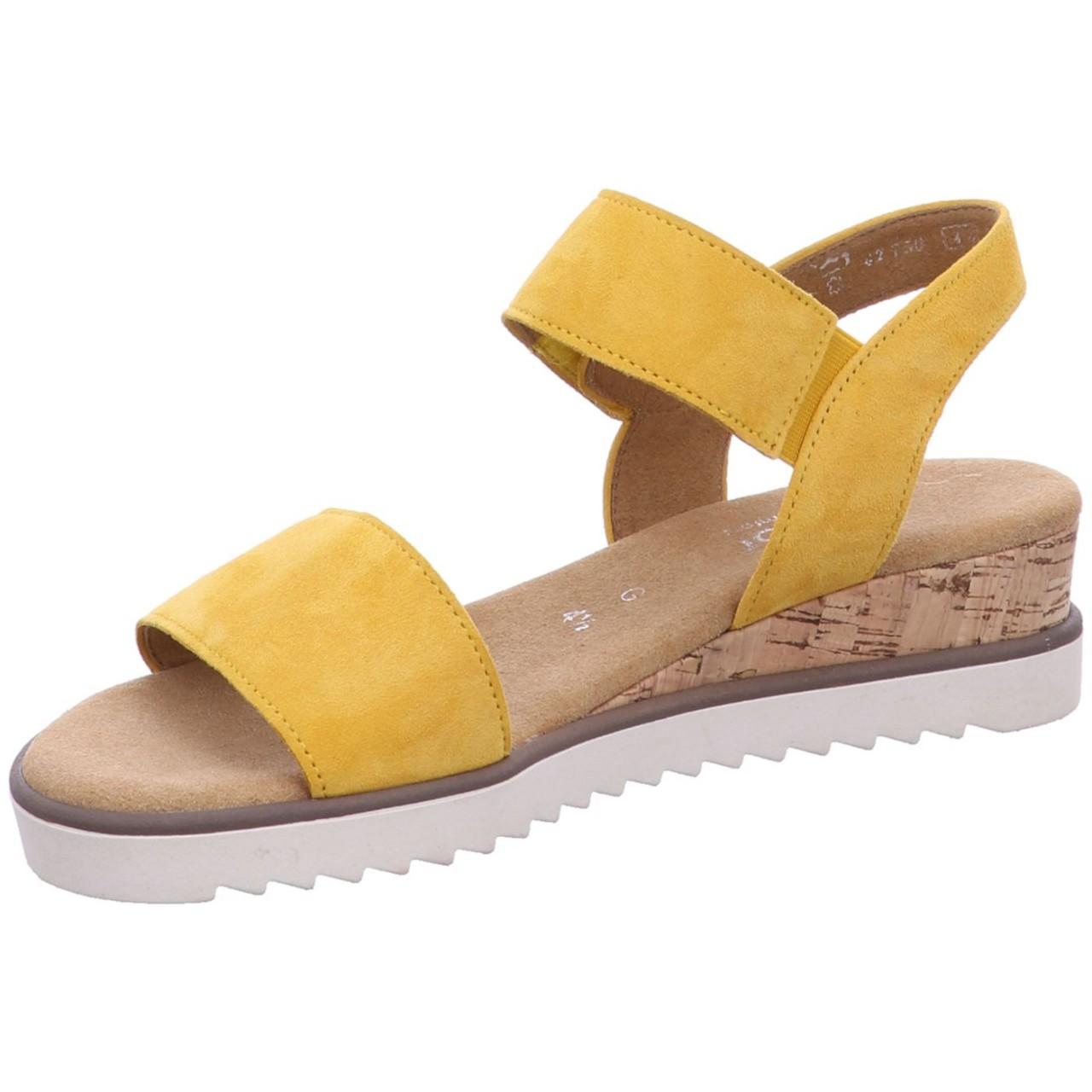 Gabor Sandale 62.750-22 Gelb mango (Kork/creme) 22 62.750-22