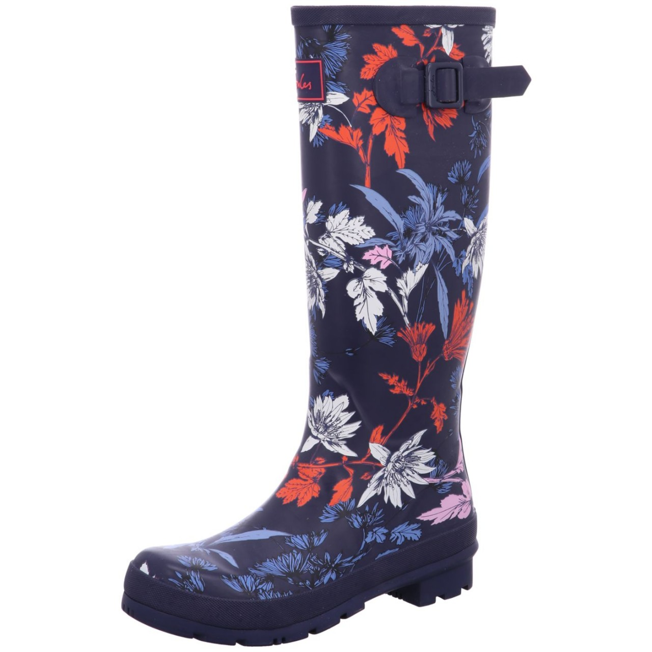 Joules Stiefel Welly High, Blumenprint french Blau Welly french navy fay floral