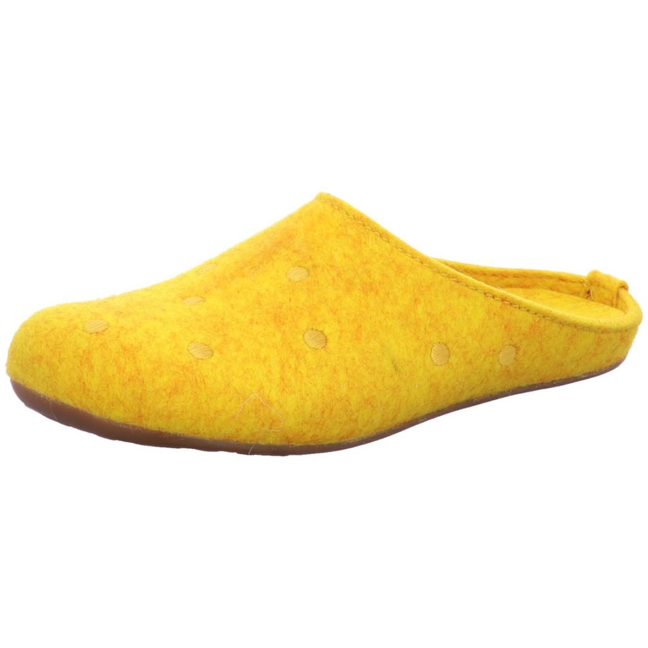Haflinger Hausschuh Noblesse Gelb mais 484012-252 Noblesse
